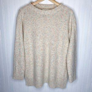 Lou & Grey Cream Confetti Crew Neck Sweater